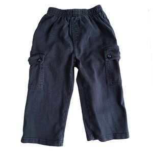 CHILDREN'S PLACE Navy Cargo Style Sweatpants 24 mo